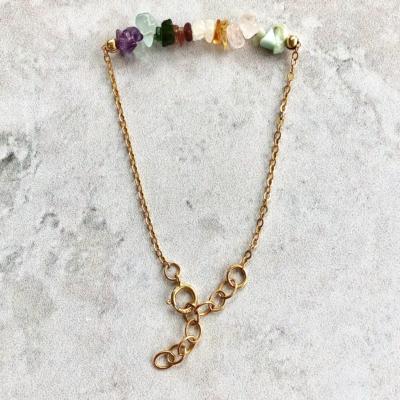 Rosa Quartz armbånd – guld